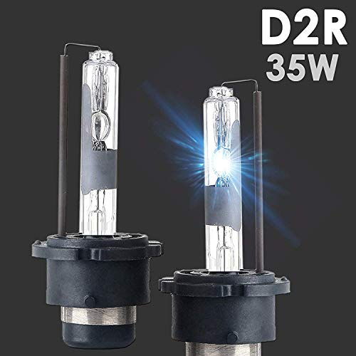 SOCAL-LED 2X D2R HID Bulbs 35W AC Factory Xenon HID Headlight Direct Replacement 6000K Crystal White