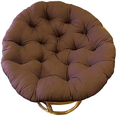 COTTON CRAFT Papasan Chocolate - Overstuffed Chair Cushion, Sink into Our Thick Comfortable and Oversized Papasan, Pure 100% Cotton Duck Fabric, Fits ...