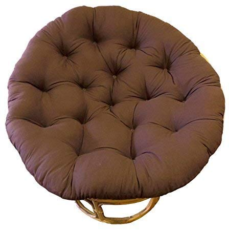 Cotton Craft Papasan Chocolate - Overstuffed Chair Cushion, Sink into our Thick Comfortable and Oversized Papasan, Pure 100% Cotton duck fabric, Fits Standard 45 inch round Chair - Chair not included (Chairs Overstuffed Cheap)