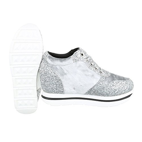 Ital-Design - Zapatillas altas Mujer plata