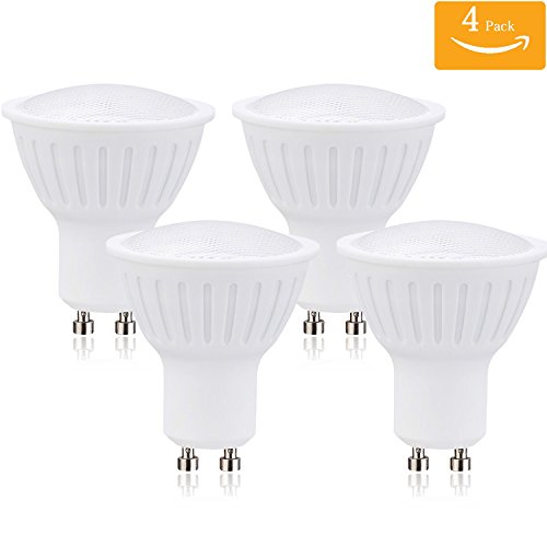(Pack of 4) 7W Dimmable GU10 Led Light Bulbs 70W Equivalent, 100% Aluminum Reflector 5000K Daylight White, 120 Degree Beam Angle, CRI>80,Track Lighting, Recessed ()