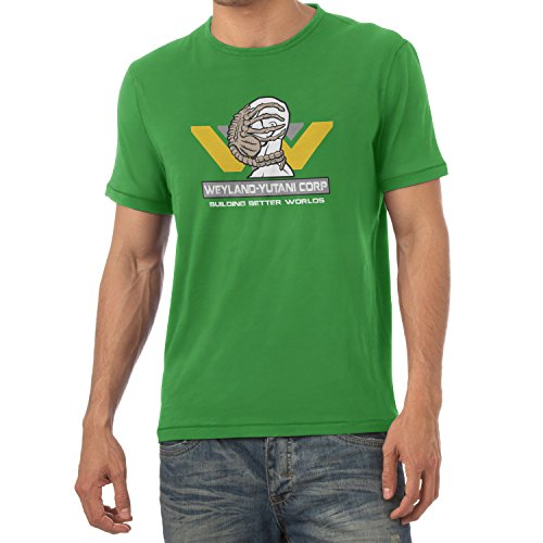 TEXLAB - Weyland Yutani Facehugger - Herren T-Shirt, Größe XXL, grün