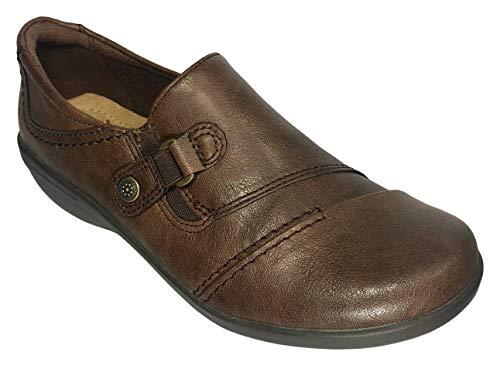 Earth Spirit Beni Women Flat Slip-on Shoes (8.0, Brown)