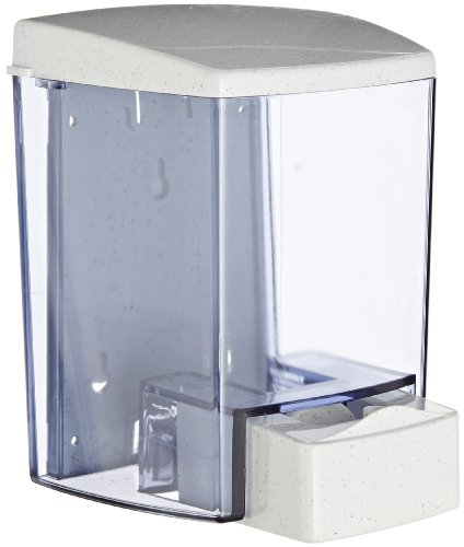 San Jamar S30TBL Classic Wall-Mount Liquid Soap Dispenser, 30 oz Capacity, Arctic Blue by San Jamar