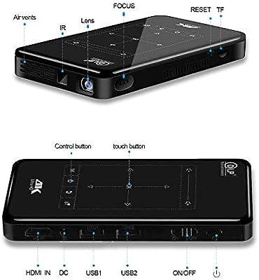 Proyector Portatil, Proyector 4K de Cine en Casa, Proyector para ...