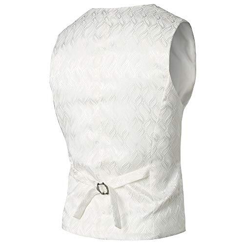 Outwear Hauts D'affaires Vintage Homme Aimee7 Formelles Mode Top Gilet Manteau Veste Blanc aTwqRnROz8