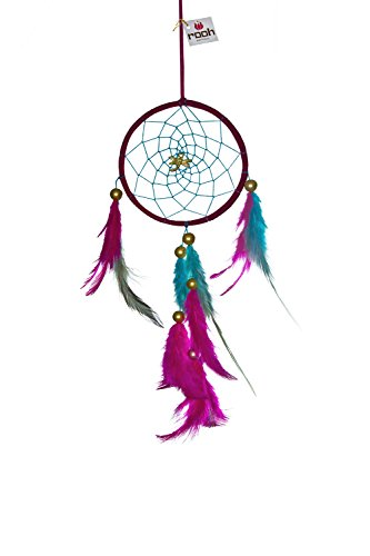 Rooh Dream Catcher ~ Dragonfly~Handmade Hangings for Positivity (Used as Home DÃcor Accents, Wall Hangings, Garden, Car, Outdoor, Bedroom, Key chain, Meditation Room, Yoga Temple, Windchime) (purple) ()