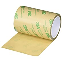 """3M 3-5-467MP (CASE OF 4) Adhesive Transfer Tape 467MP, 3"""" Wide, 5 yd. Length, Clear (Pack of 4)"""