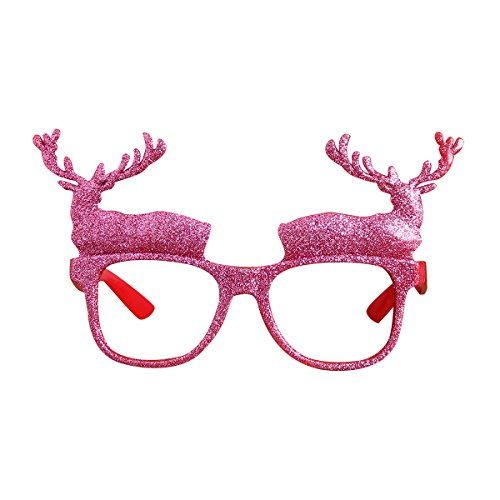 Tinksky Christmas Holiday Party Glasses Costume Accessory Novelty Glittering Santa Reindeer Xmas Sunglasses Party Favors Photo Booth Props Christmas - Santa Sunglasses