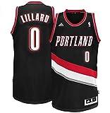img - for Portland Trail Blazers #0 Damian Lillard Revolution 30 Swingman Black Jersey Small book / textbook / text book