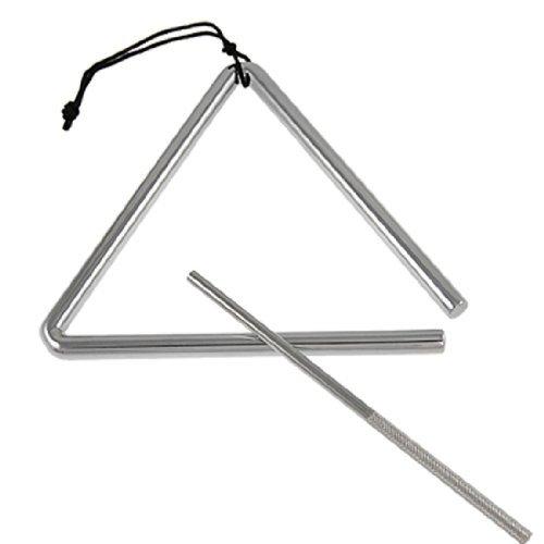 DealMux Aço músico orquestra de percussão Triangle Musical 6 polegadas de comprimento tom de prata by DealMux (Image #1)