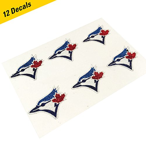 (EyeBlack Toronto Blue Jays MLB Glitter Cheek Decals, Perfect for Game Day and Tailgate (12 Decals))