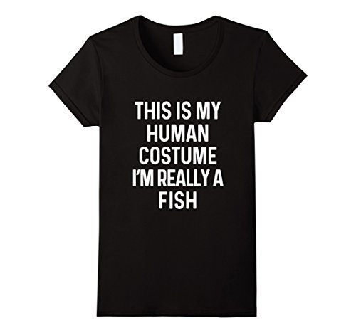 Womens Funny Fish Costume Shirt Halloween Adults Kids Men Women Large (Fish Costume Ideas For Kids)
