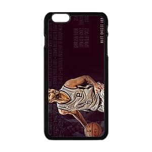 Happy SAN ANTONIO SPURS Basketball NBA Black Phone Case for Iphone6 plus