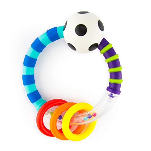 Sassy Ring Rattle  |  Developmental Baby Toy for Early Learning  |  High Contrast  |  For Ages Newborn and - Sassy Teether