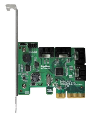 HighPoint RocketRAID 640L  Internal 4 SATA Port PCI-Express 2.0 x4 SATA 6Gb/s RAID Controller -Lite Version by High Point