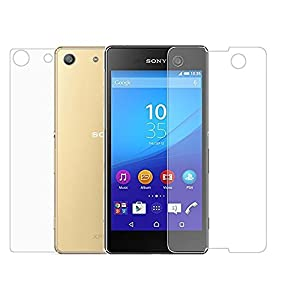 Sony Xperia M5 Front & Back Tempered Glass Screen Protector , iKNOWTECH Dual [1Front & 1Back] Tempered Film Guard 9H Front + Back Protecting Guard