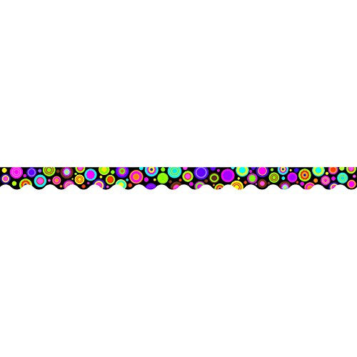 TEACHER CREATED RESOURCES COLORFUL CIRCLES SCALLOPED BORDER (Set of 24) Scalloped Border Sets