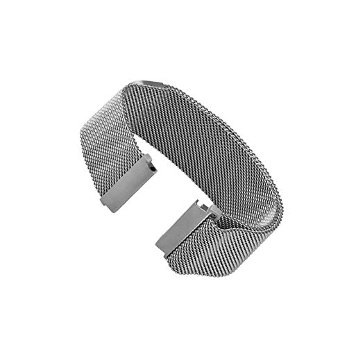 (SING F LTD Magnetic Replacement Wrist Band Smart Watch Bands for Samsung Gear S3 Frontier Classic Silver)