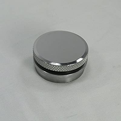 VENTED OR NON-VENTED Motorcycle Polished Aluminum Gas/Fuel Tank Cap Knurled - Steel Stepped Bung - Custom Harley Chopper Bobber Cafe Racer: Automotive