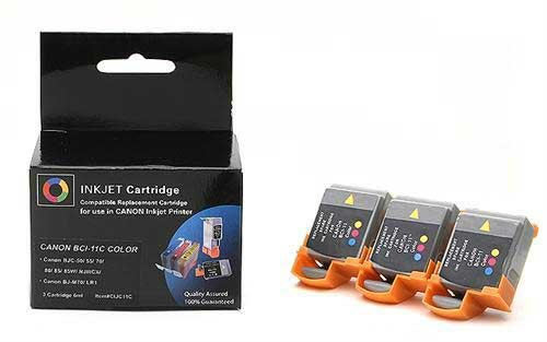 Laser Tek Services Compatible Ink Cartridge Replacement for Canon BCI-11C Color 3 Pack ()