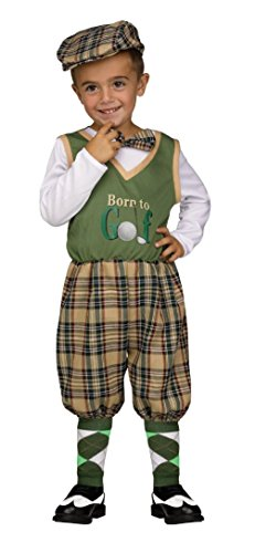 [Retro Li'l Golfer Infant & Toddler Costume Large 3T-4T] (Baby Golfer Costume)