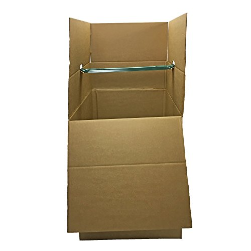 (UBOXES Space Saving Wardrobe Moving Boxes 20 x 20 x 34 Inches Moving Boxes, 1-Pack, Kraft/Corrugated (BOXMINIWAR01))