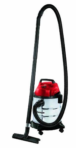 Einhell Nass Trockensauger TH-VC 1820 S (1250 W, 180 mbar, 20 l, Edelstahlbehälter, 1,5 m Saugschlauch, umfangreiches Zubehör)