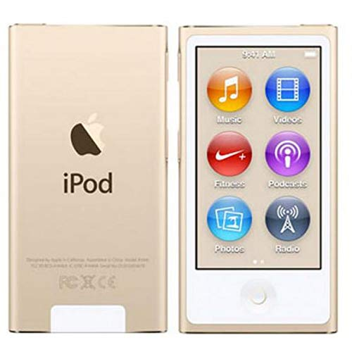 Iplayer iPod Nano 7th Generation Gold 16gb with Generic Accessories Non Retail Packaging (Ipod Nano 16g)