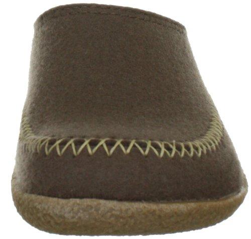 Haflinger Credo 718001 - Zapatillas de casa de fieltro unisex Marrón
