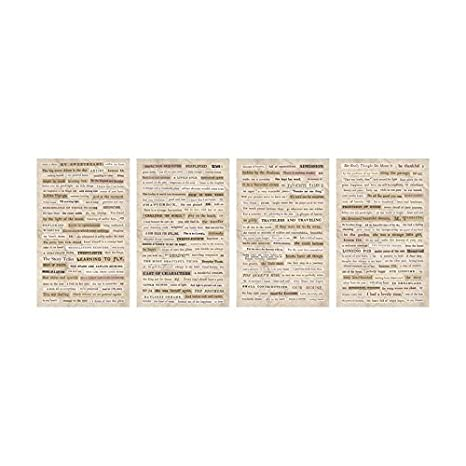 Clippings Stickers by Tim Holtz Idea-ology, 0.33 Inches Tall, 295 Word Stickers on Four Sheets (TH93583) Advantus Corp.
