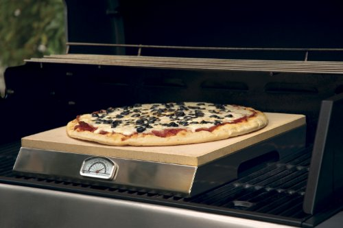 Pizzastein Für Gasgrill : Pizzacraft pizzastein mit integriertem thermometer silber