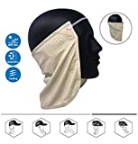 Neck or Face Sun Mask | 1 Product 2 Uses | 1 Removable Universal Fit Headband with 1 Flap | Multifunctional Headwear | 4 Season Performance | Caps | Hats | Bike + Ski Helmets UPF 50+ CoolNES Patent