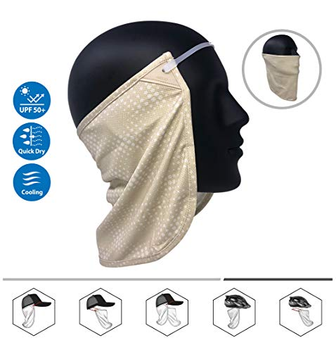 Neck or Face Sun Mask | 1 Product 2 Uses | 1 Removable Universal Fit Headband with 1 Flap | Multifunctional Headwear | 4 Season Performance | Caps | Hats | Bike + Ski Helmets UPF 50+ CoolNES Patent ()