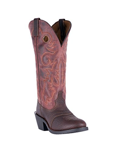Laredo Men's Hank Western Boot Round Toe Dark Brown 9 ()