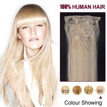 Amazon 22 inches white blonde60 7pcs clip in human hair 22 inches white blonde60 7pcs clip in human hair extensions pmusecretfo Image collections