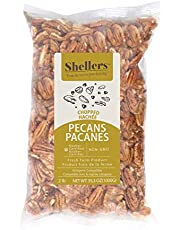 Shellers Pecans - Fresh Crop of .907 kgs (2 lbs) Chopped Pecans. Raw Pecan Nuts That Compare to Organic, NO Shell, Non-GMO, No Preservatives, Unpasteurized, Kosher and Halal Certified and Ketogenic Friendly