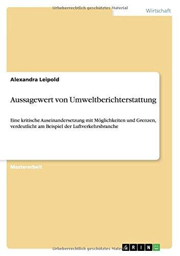 Aussagewert von Umweltberichterstattung (German Edition)