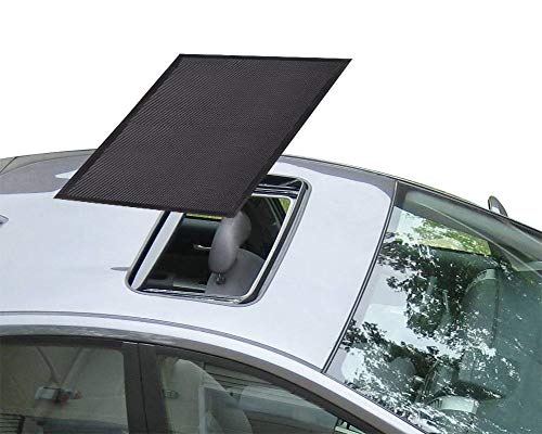 Sunroof Sun Shade Magnetic Net Car Moonroof Mesh 10 Seconds Quick Install Durable UV Sun Protection Cover for Baby Kids Breastfeeding When Parking on Trips- Black (Best Breasts On The Net)