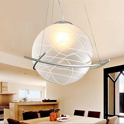Zhang Ying Luces Colgantes de Bola de Cristal Marco Triangular E27 Lámpara Redonda de una Cabeza for Restaurante Ropa Tienda Escalera Esférica: Amazon.es: Hogar