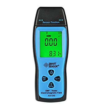 EMF Meter, KKmoon Smart Sensor Handheld Mini Digital LCD EMF Tester Electromagnetic Field Radiation Detector