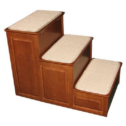 Crown Pet Products Carpeted Pet Steps for Small and Large Dogs and Cats with Storage