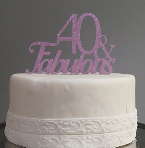All About Details Purple 40-&-Fabulous Cake Topper ()