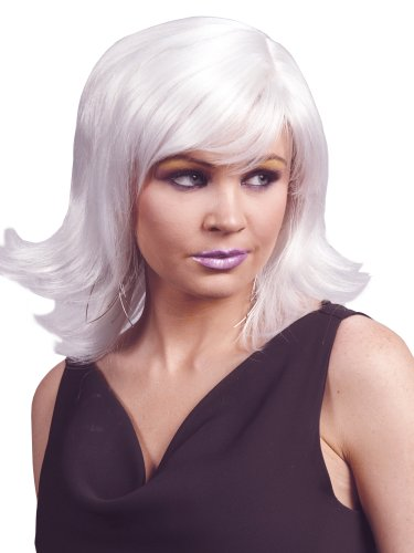 Enigma Wigs Women's Animae, White, One Size -