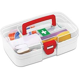 Milton Plastic Rectangular First Aid Box, 1 Piece, White, Smal