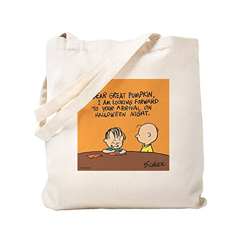 CafePress Letter To The Great Trick Or Treat Bag Natural Canvas Tote Bag, Cloth Shopping Bag]()