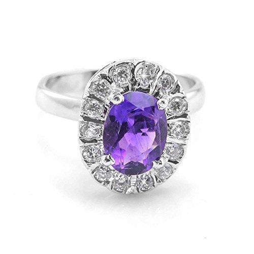 Natural Amethyst Gemstone Ring - 7