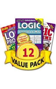 (Logic Puzzles-12 Pack)
