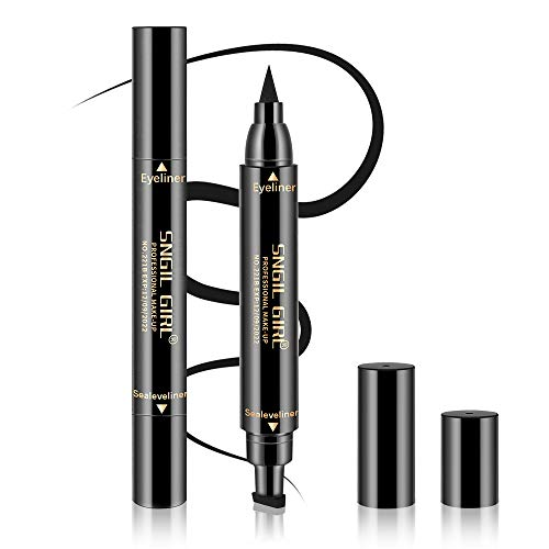 Waterproof Eyeliner Stamp - Wingliner Black Make Up Pens By DIOLAN, Vamp Style Wing, Smudgeproof & Sweatproof, Perfect Cat Eye Look, Winged Long Lasting Liquid Eye Liner Pen, No Dipping, Small (Best Eyeliner For Cat Eye Look)