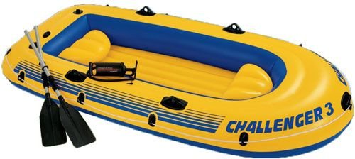 Boston Bench - Intex Challenger 3 Inflatable Raft Boat Set With Pump And Oars | 68370EP
